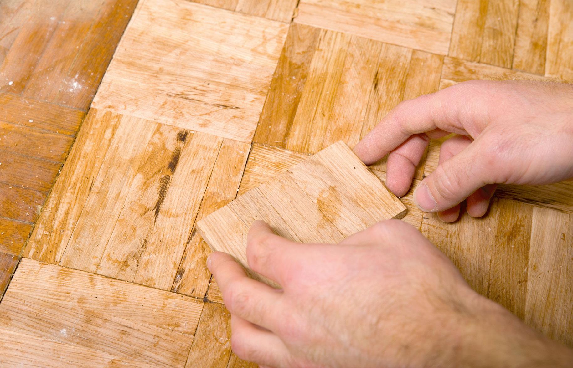 Fußboden aus Fichtenholz weiß geölt