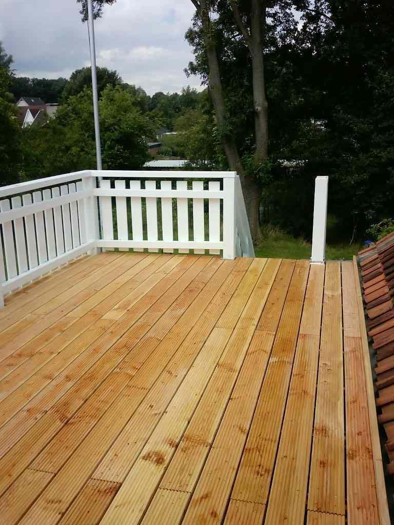 Wenn Tischler einen Balkon bauen :-)