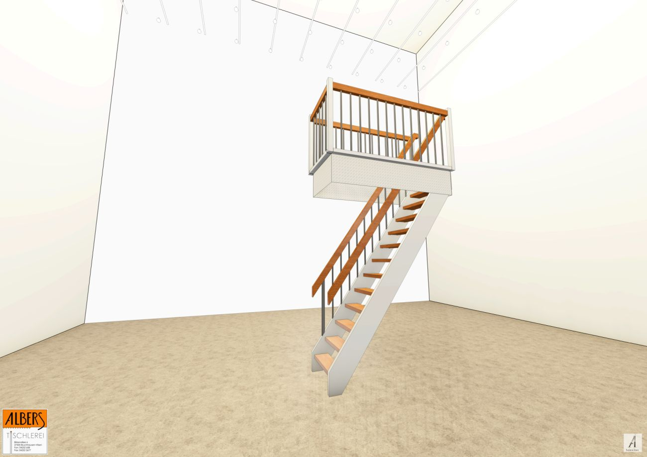 treppe zum dachboden 009 tischlerei albers. Black Bedroom Furniture Sets. Home Design Ideas