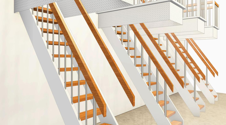 Treppe zum Dachboden Entwurf und Fertigstellung